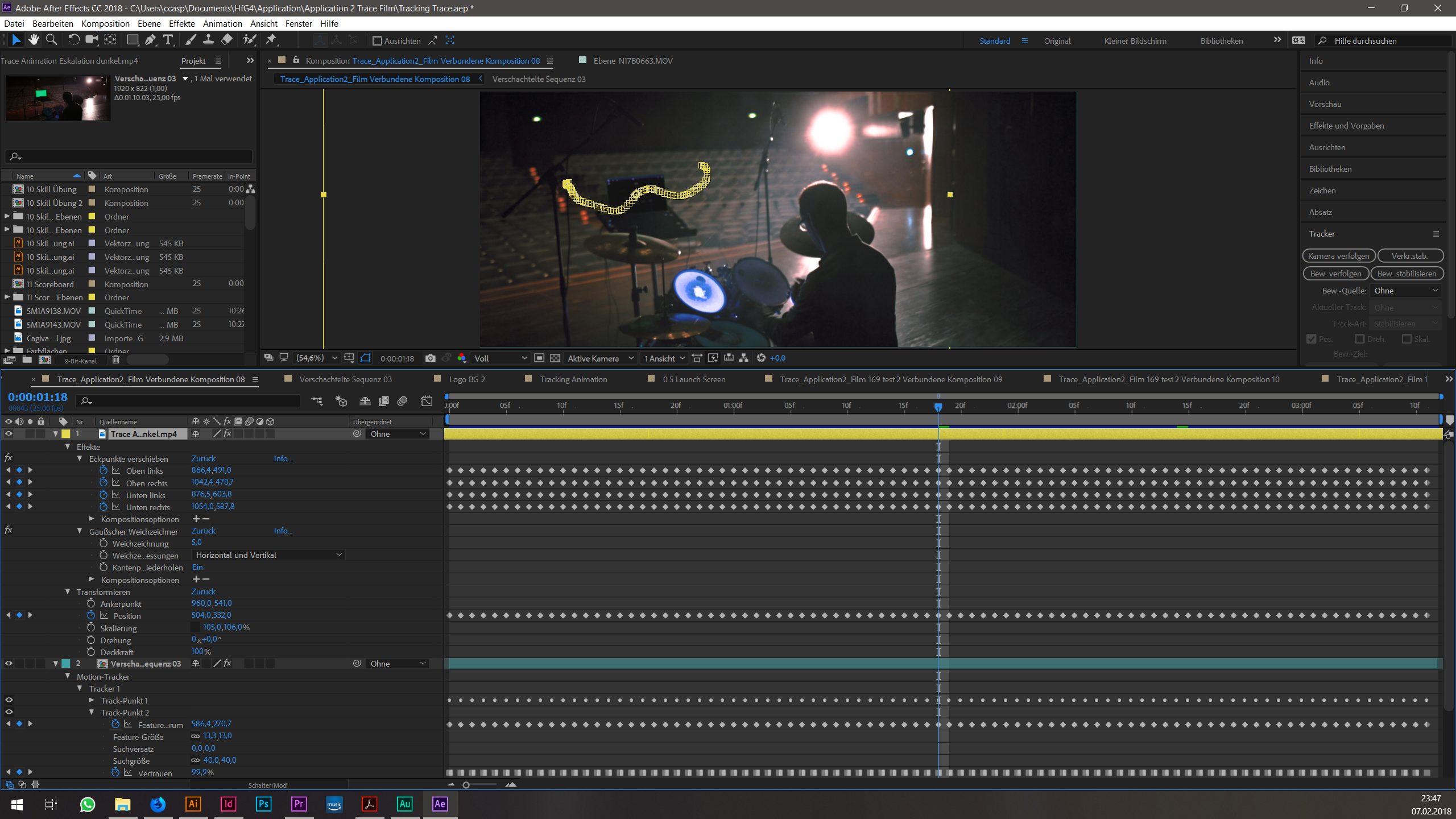AfterEffects Tracking